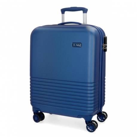 Maleta de cabina 55x36x20 cm Rigida El Potro Ride color Azul