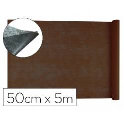 Entretela Liderpapel 25g/m2 rollo de 5m color Marron