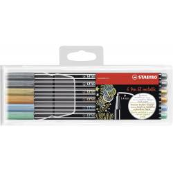 Rotulador Stabilo Acuarelable Pen 68 Metalico Estuche 6 colores
