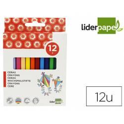 Caja lápices cera de 12 colores Liderpapel