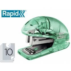 Grapadora mini con capacidad de 10 hojas de papel Usa grapas 24/6 y 26/8 Color albaricoque