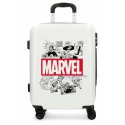 Maleta de cabina rígida Comic Marvel Beige 55x40x20cm ABS