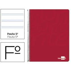 Bloc Liderpapel Folio Write Pauta 2,5 mm Rojo