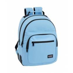Mochila Escolar Blackfit8 42x32x15 cm en Poliester Azul