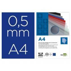 Tapa de Encuadernacion Polipropileno Liderpapel DIN A4 Azul 0,5 mm