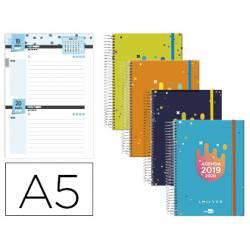 Agenda Escolar 19-20 Dos dia pagina DIN A5 Espiral Bilingüe Liderpapel College Date No se puede elegir color