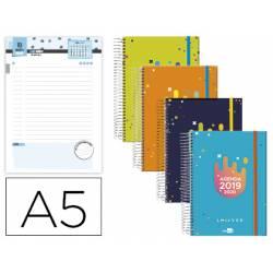 Agenda Escolar 19-20 Dia pagina DIN A5 Espiral Bilingüe Liderpapel College Date No se puede elegir color