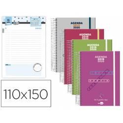 Agenda Escolar 19-20 Dia pagina Mini con Espiral Bilingüe Liderpapel College Polipropileno No se puede elegir color