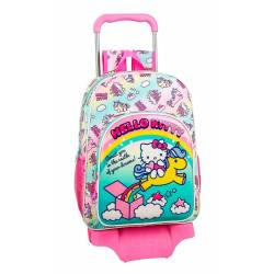 Mochila Escolar Hello Kitty 42x33x15 cm Poliester Candy Unicorns