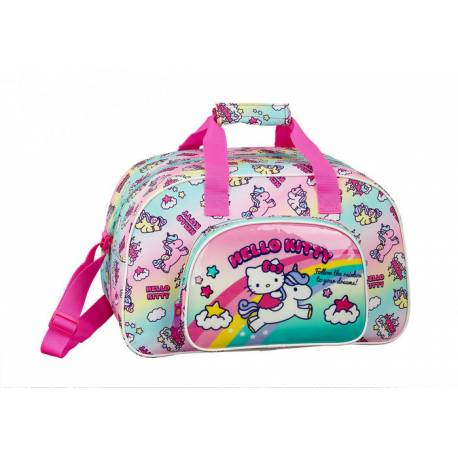 Bolsa Deporte Hello Kitty 40x24x23 cm Poliester Candy Unicorns