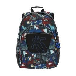 Mochila escolar - Crayola - Marca Totto 44x33x13.50cm Peso: 0.7 Kg.