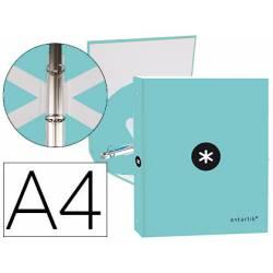 Carpeta Antartik 4 anillas DIN A4 Carton forrado Color Menta