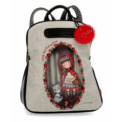 Mochila casual Gorjuss 38x31x15 cm en Piel Sintetica Little Red Riding Hood