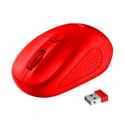 RATON TRUST PRIMO OPTICO 1600 DPI INALAMBRICO MICRO USB 2,4 GHZ COLOR ROJO