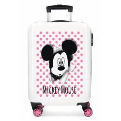 Maleta de cabina Mickey Mouse rígida rosa 55x38x20cm ABS