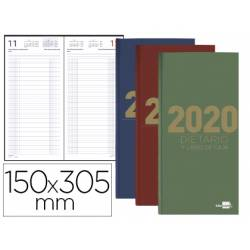 Dietario 2020 Dia Pagina 150x305 mm Liderpapel Dos tercios