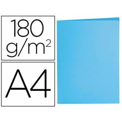 Subcarpeta de cartulina Liderpapel Din A4 color Azul pastel 180g/m2