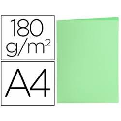 Subcarpeta de cartulina Liderpapel Din A4 color Verde pastel 180g/m2