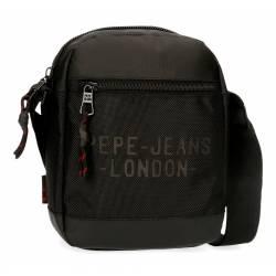 Bandolera Pepe Jeans Bromley Mediana Negra 22x17x6cm Poliéster