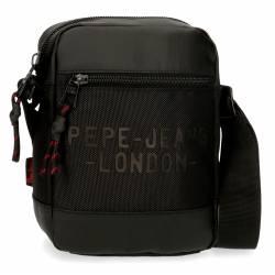 Bandolera Pepe Jeans Bromley Pequeña Negra 21x16x7cm