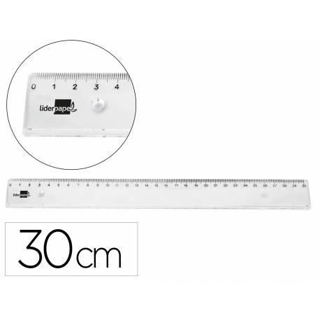 Regla de plastico Liderpapel Irrompible Transparente 30 cm