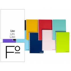 Cuaderno espiral Liderpapel folio smart Tapa blanda 80h 60gr liso sin margen Colores surtidos (no se puede elegir)