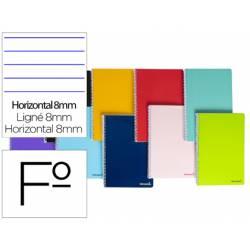 Cuaderno espiral marca Liderpapel folio smart Tapa blanda 80h 60gr horizontal con margen Colores surtidos (no se puede elegir)