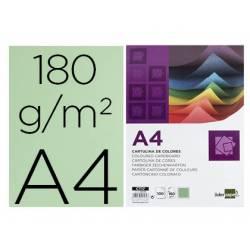 Cartulina Liderpapel verde a4 180 g/m2