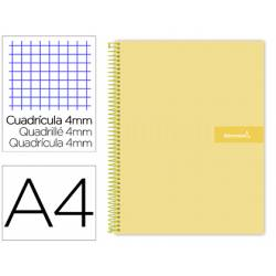 Bloc Liderpapel DIN A4 crafty cuadrícula 4mm color amarillo