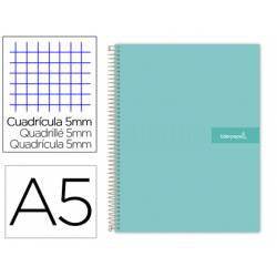 Bloc liderpapel Din A5 micro crafty cuadrícula 5mm tapa forrada 90 gr color azul.