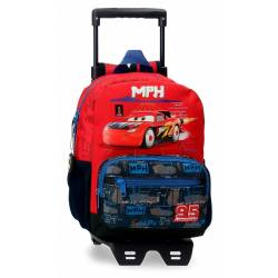 Mochila Infantil Cars Rocket Racing 28cm con Carro (20821T1)