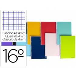 """Bloc Liderpapel dieciseisavo bolsillo smart cuadrícula 4 mm tapa blanda 60 gr color """"no se puede elegir"""""""