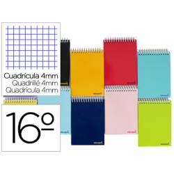 """Bloc Liderpapel dieciseisavo apaisado bolsillo smart cuadrícula 4 mm tapa blanda 60 gr color """"no se puede elegir"""""""