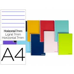 "Bloc Liderpapel DIN A4 micro smart horizontal 7mm doble margen 4 taladros tapa blanda 60 gr color ""no se puede elegir"""