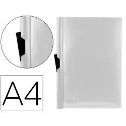 Carpeta dossier con pinza lateral Liderpapel 60 hojas Din A4 transparente