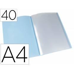 Carpeta escaparate Liderpapel DIN A4 poliporpileno con 40 fundas color azul