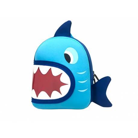 Mochila escolar/infantil Liderpapel Tiburón 28x24x11 cm.