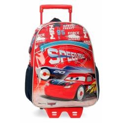 Mochila Cars Speed Trails 32cm con carro (40322T1)