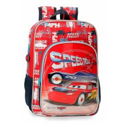Mochila Escolar Cars Speed Trails 38cm Adaptable (40323D1)