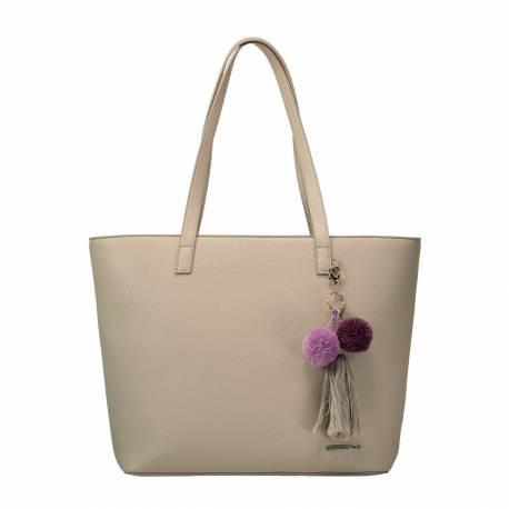 Bolso shopper mujer gris - Phia Totto 30 x 41.5 x 13.5 cm