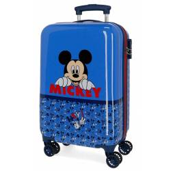 Maleta de cabina Mickey Moods rígida 55x34x20 cm ABS