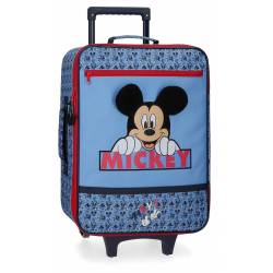 Maleta de cabina Mickey Moods 50x35x18 cm Poliéster
