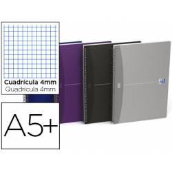 Cuaderno espiral Oxford Essentials DIN A5+ Cuadricula 4mm Tapa blanda Colores surtidos