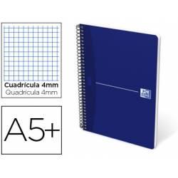 Cuaderno espiral Oxford Essentials DIN A5+ Cuadricula 4mm Tapa blanda Color Azul