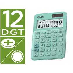 Calculadora Sobremesa Casio MS-20UC-BU 12 Digitos Verde