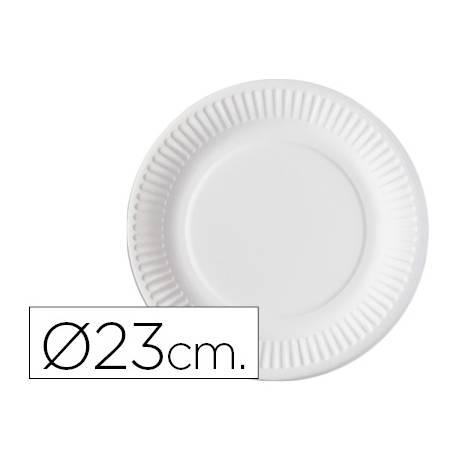 Plato de carton Nupik 23cm blanco