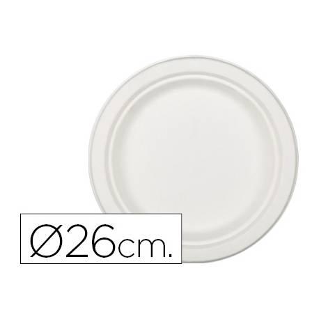 Plato de fibra natural Nupik 26cm blanco