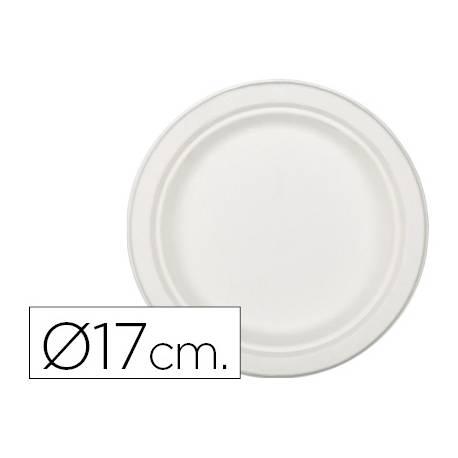 Plato de fibra natural Nupik 17cm blanco