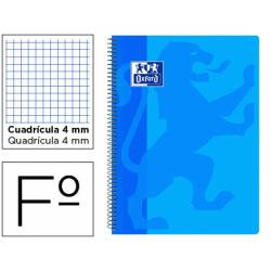Bloc Oxford Folio School Classic Cuadricula 4 mm 80 hojas Celeste