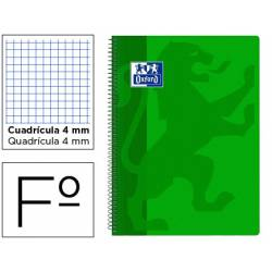 Bloc Oxford Folio School Classic Cuadricula 4 mm Verde